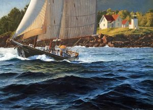 A look at the J. Russell Jinishian Gallery Fine marine art in Fairfield