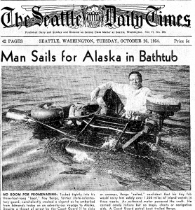 Man sets sail in bathtub from Edmonds to Alaska 62 years ago today | The Seattle Times
