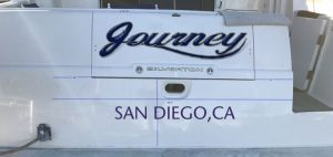 Journey 1 boat transom