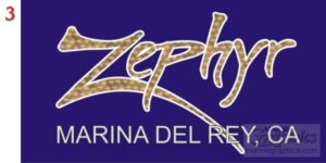 Zephyr gold leaf vinyl graphics