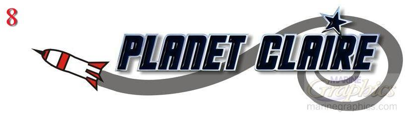 Planet Claire boat name