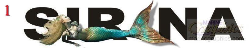 Sirena boat lettering