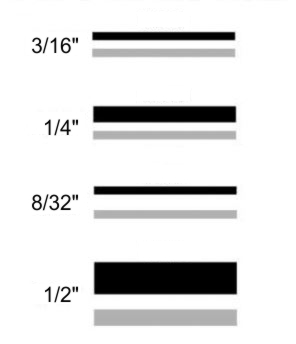 2-color boat striping widths