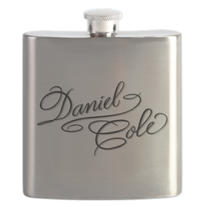 Shirt Flask with boat lettering