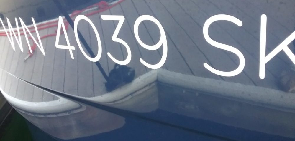State registration numbers for the boat.