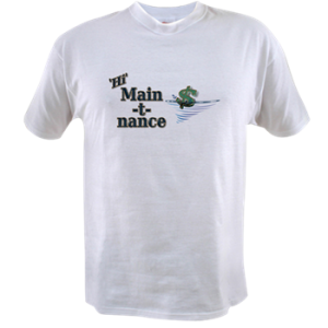 Mens Value T with boat name