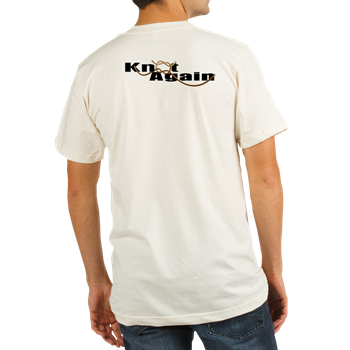 Organic Men's Fitted T-shirt with boat lettering on back