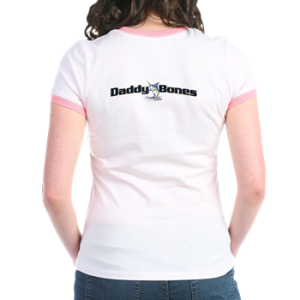 Womens Jr. Ringer T with boat name on back