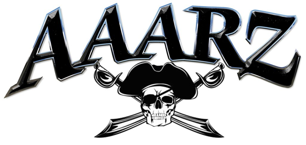 AAARZ Boat Lettering with Jolly Roger pirate 5