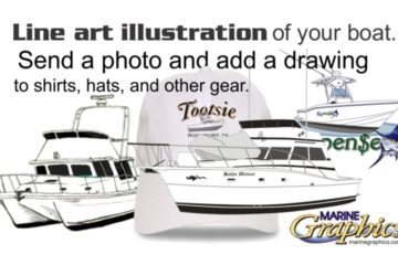 Line art illustration of your boat.